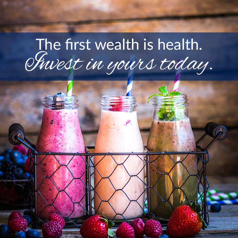 The first wealth is health. Invest in yours today.