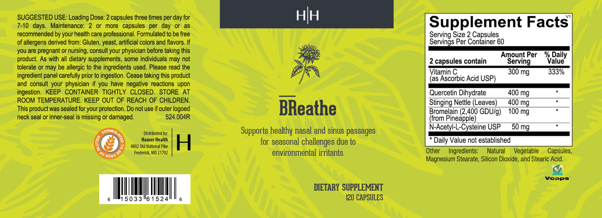 BReathe holistic allergy supplement
